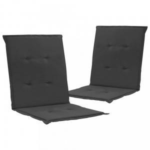 Podušky na záhradné stoličky 2 ks Dekorhome Antracit
