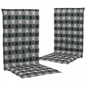 Podušky na záhradné stoličky 2ks Dekorhome Čierna / biela