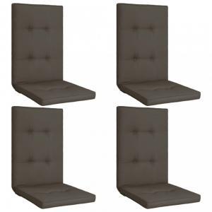 Vodeodolné podušky na záhradné stoličky 4 ks Dekorhome Antracit