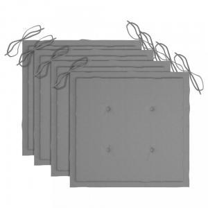 Podušky na záhradné stoličky 4 ks Dekorhome Sivá