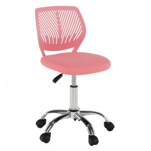 Otočná stolička, ružová/chróm, SELVA, rozbalený tovar