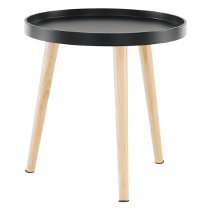 Príručný stolík, čierna/prírodná, SANSE TYP 2, rozbalený tovar