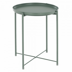 Príručný stolík s odnímateľnou táckou, zelená, TRIDER, rozbalený tovar
