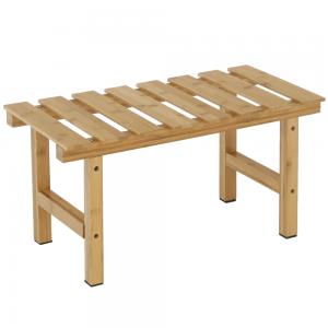 Príručný stolík k vírivke v tvare obdĺžnika, prírodný bambus, VIREO TYP 4, rozbalený tovar