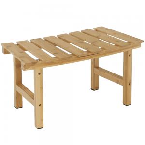 Príručný stolík k vírivke v tvare oblúka, prírodný bambus, VIREO TYP 3, rozbalený tovar
