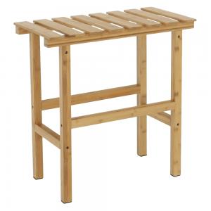 Príručný stolík k vírivke v tvare obdĺžnika, prírodný bambus, VIREO TYP 2, rozbalený tovar
