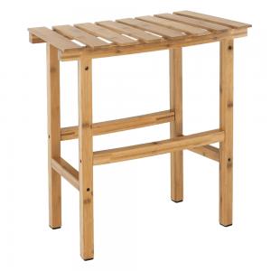Príručný stolík k vírivke v tvare oblúka, prírodný bambus, VIREO TYP 1, rozbalený tovar