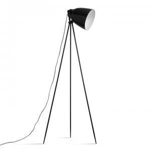 TEMPO KONDELA Stojacia lampa, čierny kov, CINDA Typ 5 YF6249