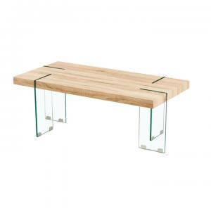 TEMPO KONDELA Konferenčný stolík, dub sonoma/číre sklo, PROSPER
