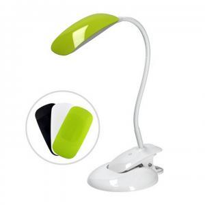TEMPO KONDELA LED stolná lampa, biela základňa/vymeniteľné kryty, WO42