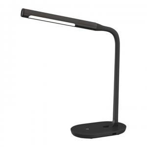 TEMPO KONDELA LED lampa s USB zdierkou, čierna, WO50-B