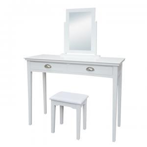 TEMPO KONDELA Toaletný stolík, toaletka, biela, RESINA