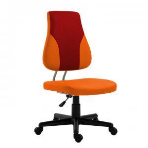 TEMPO KONDELA Detská rastúca stolička, oranžová/červená, RANDAL