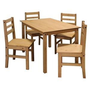 Stôl + 4 stoličky CORONA vosk