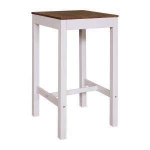 Barový stôl TORINO biely/hnedý